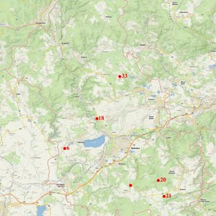 mapa výskytu na Sokolovsku